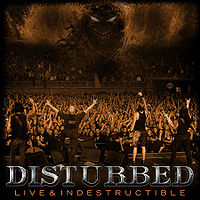 [Disturbed Live and Indestructible Album Cover]