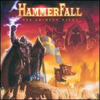 [Hammerfall One Crimson Night (Live) Album Cover]