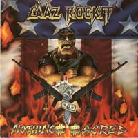 [Laaz Rockit Nothings Sacred Album Cover]