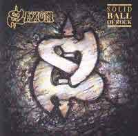 [Saxon Solid Ball of Rock Album Cover]