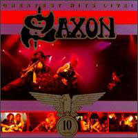 [Saxon Greatest Hits Live! Album Cover]