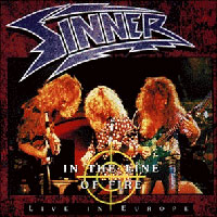 Sinner In the Line of Fire - Live in Europe Album Cover