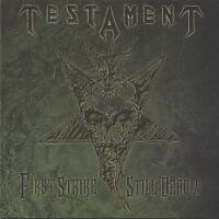[Testament First Strike Still Deadly Album Cover]